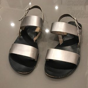 ASOS Shoes - Silver Two Strap Sandal